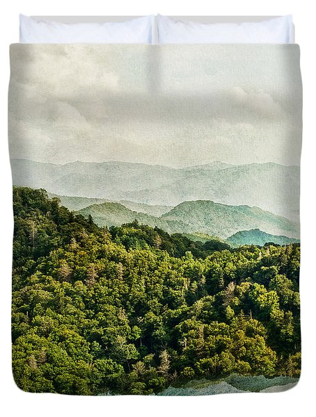 Smoky Mountain Reflections Duvet Cover