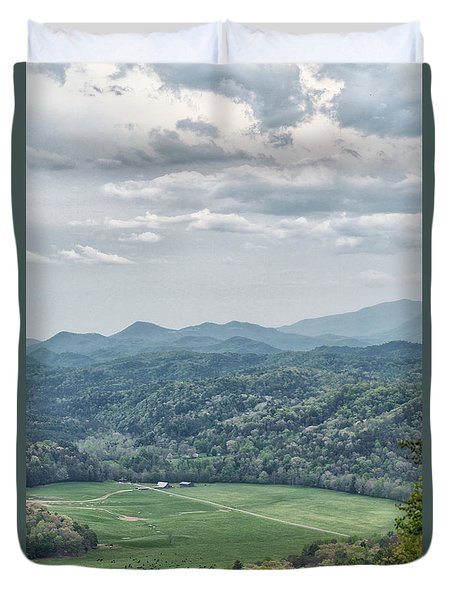 Smoky Mountain Scenic View Duvet Cover
