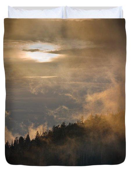 Smoky Mountain Duvet Cover by Steve Gadomski