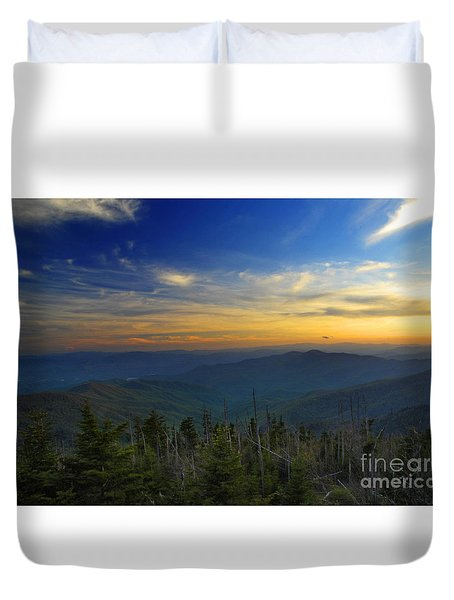 Smoky Mountain Sunset Duvet Cover