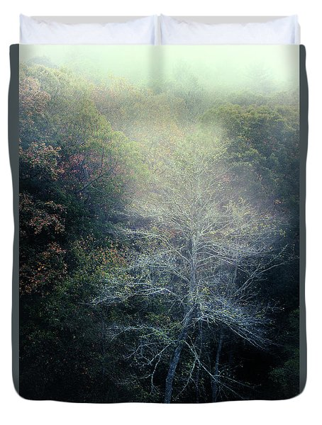 Smoky Mountain Trees Duvet Cover