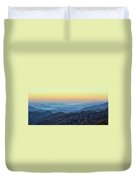 Smoky Mountains Duvet Cover by Nancy Landry