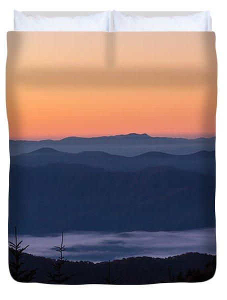 Smoky Mouontain Haze Duvet Cover