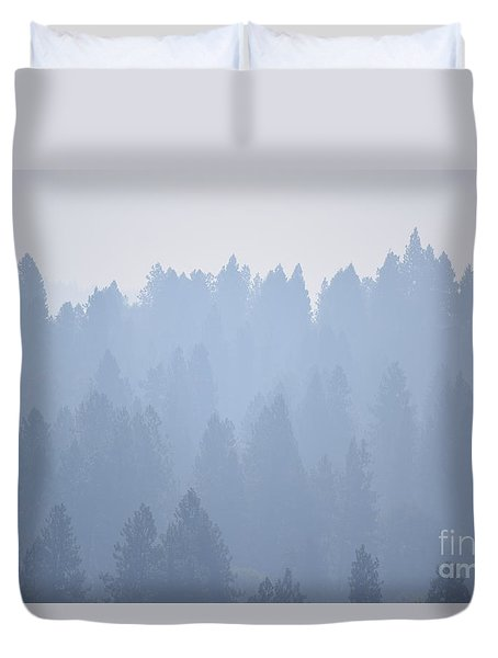 Smoky Pines Duvet Cover