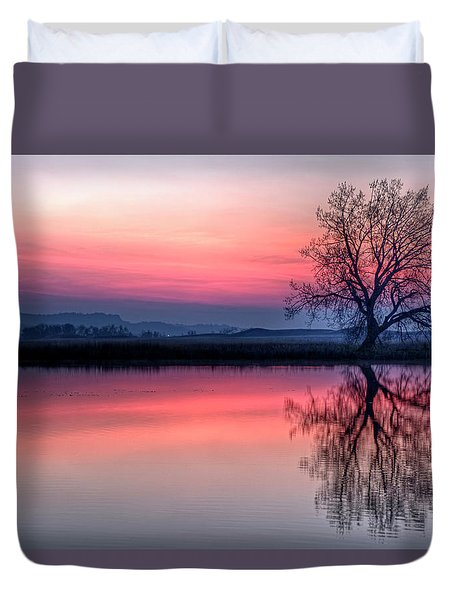 Smoky Sunrise Duvet Cover