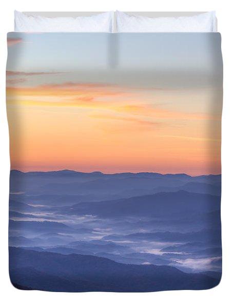 Smoky Sunrise Duvet Cover