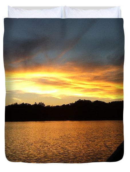 Smoldery Sunset Duvet Cover