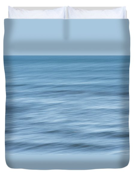 Smooth Blue Abstract Duvet Cover by Terry DeLuco