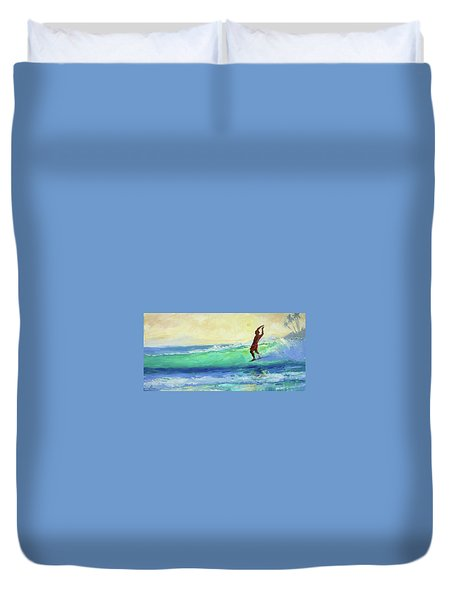Smooth Glide Duvet Cover by Jenifer Prince