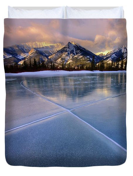 Smooth Ice Duvet Cover by Dan Jurak