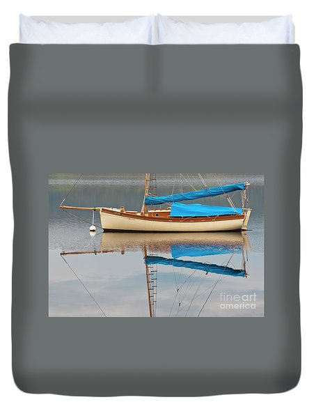 Duvet Cover featuring the photograph Smooth Sailing by Werner Padarin