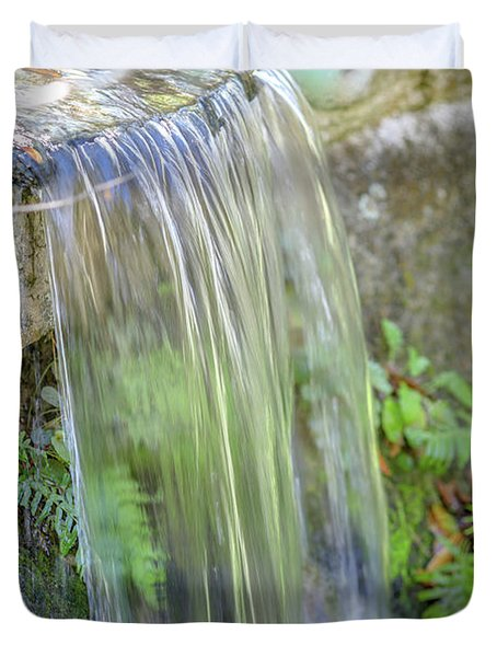 Duvet Cover featuring the photograph Smooth Water by Raphael Lopez
