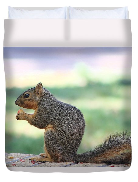 Snack Time Duvet Cover by Colleen Cornelius