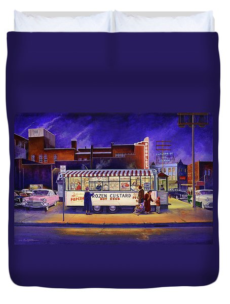 Snack Wagon Duvet Cover