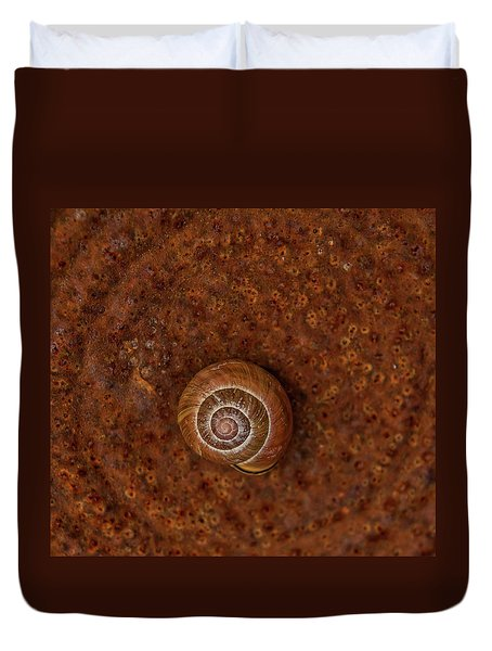 Snail On A Tin Can Duvet Cover