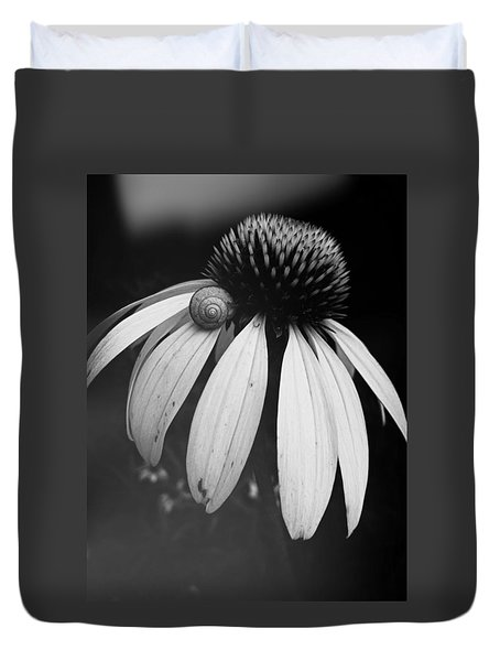 Duvet Cover featuring the photograph Snail by Sharon Jones