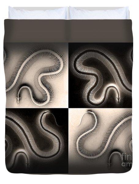 Snake Bones Duvet Cover