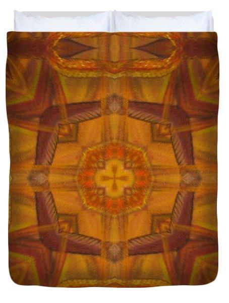 Snake Cross Duvet Cover by Maria Watt