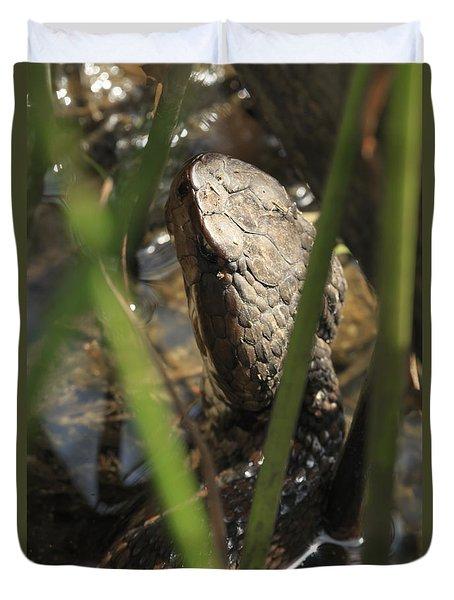 Snake In The Water Duvet Cover