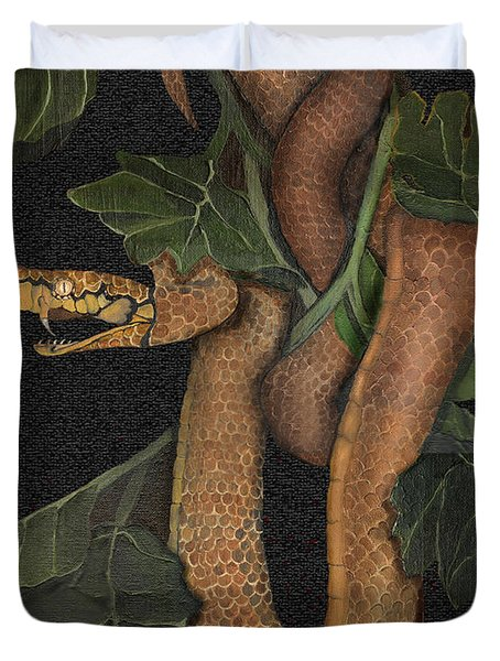 Snake Of No Kind Duvet Cover by Karen-Lee