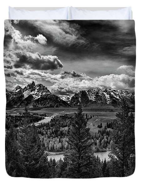 Snake River And Tetons Duvet Cover
