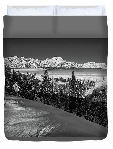 Snake River Overlook-winter Scene 79 Duvet Cover