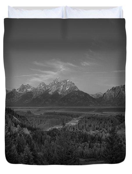 Snake River Sunrise Bw Duvet Cover