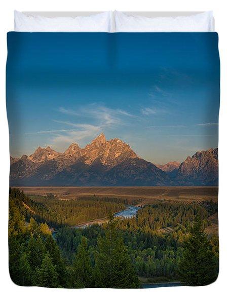 Snake River Sunrise Duvet Cover