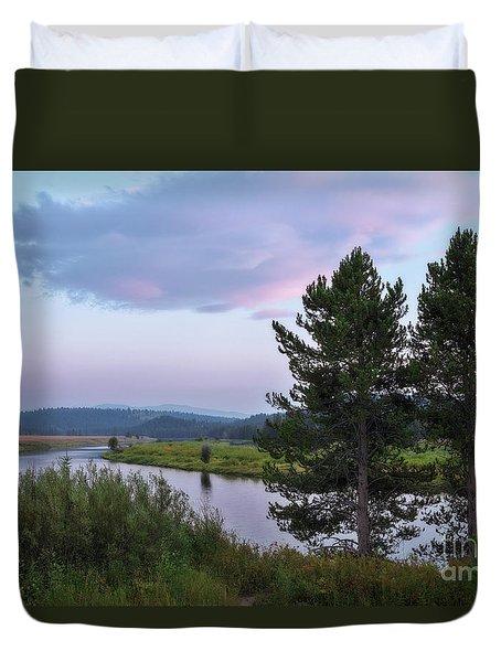 Snake River Sunset Duvet Cover