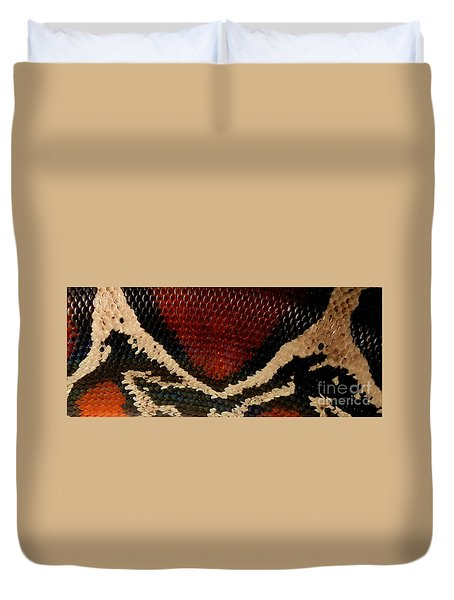 Snake's Scales Duvet Cover by KD Johnson
