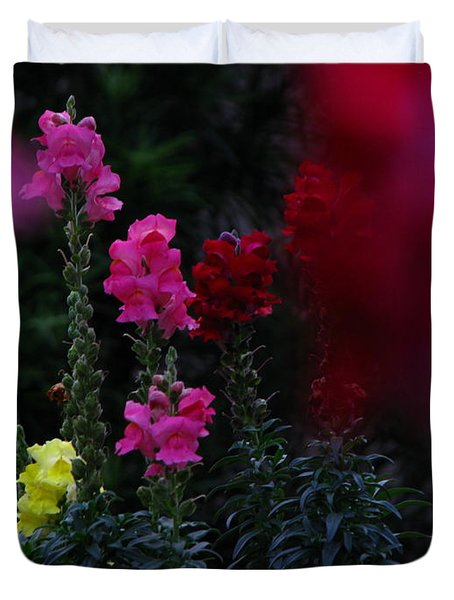 Duvet Cover featuring the photograph Snapdragon by Greg Patzer