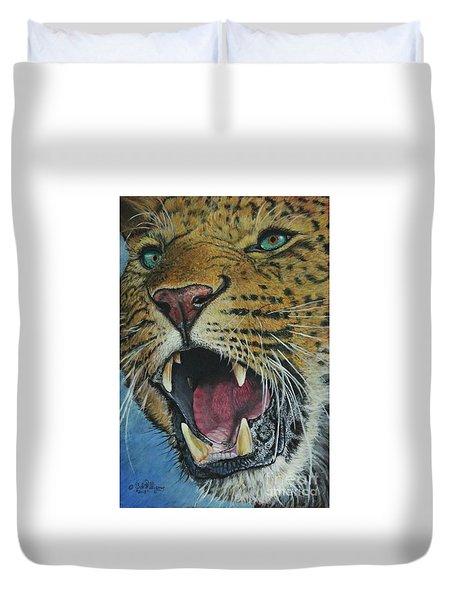 Snarl...amur Leopard Duvet Cover