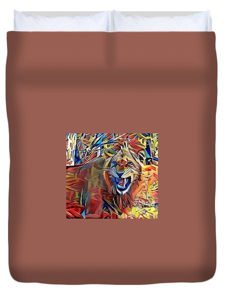 Snarling Lion Duvet Cover