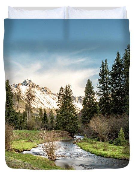 Sneffels And Spring Stream Duvet Cover