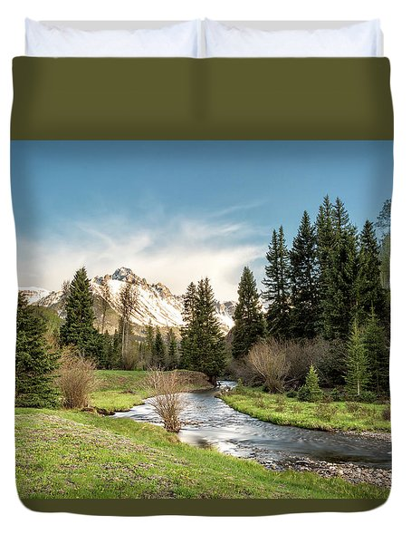 Sneffels And Spring Stream Duvet Cover