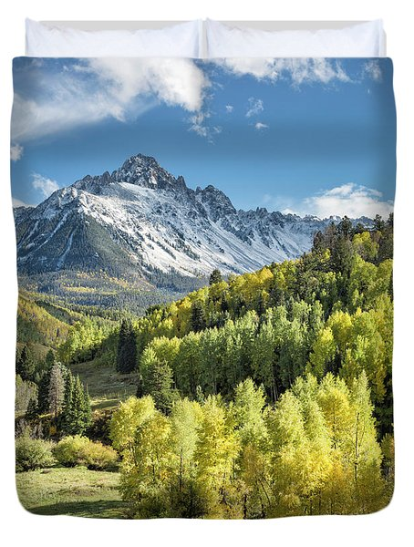 Sneffels In September Duvet Cover