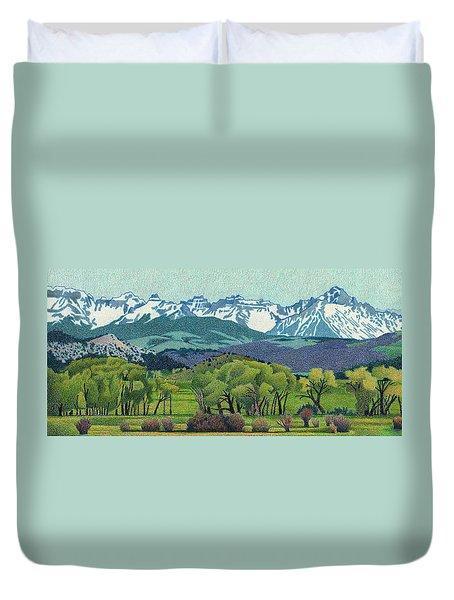 Sneffels Range Spring Duvet Cover