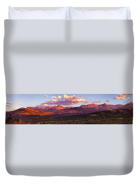Sneffel's Range Sunset Duvet Cover