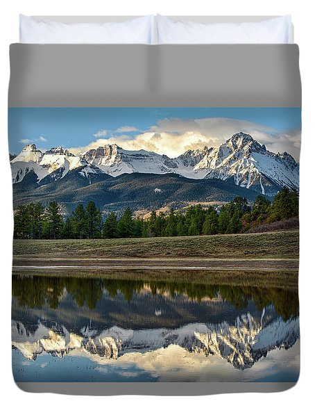 Sneffels Reflected Duvet Cover