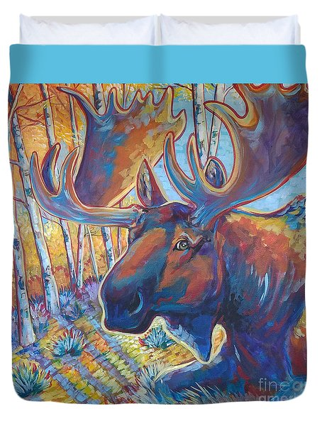 Snooze In The Aspens Duvet Cover