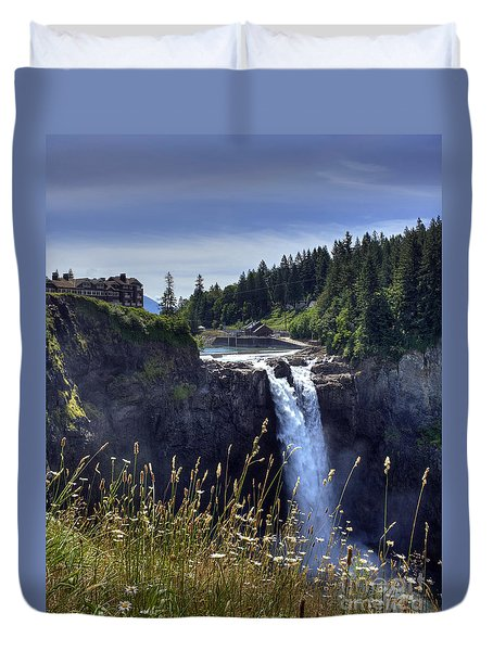 Snoqualmie Falls Duvet Cover by Chris Anderson