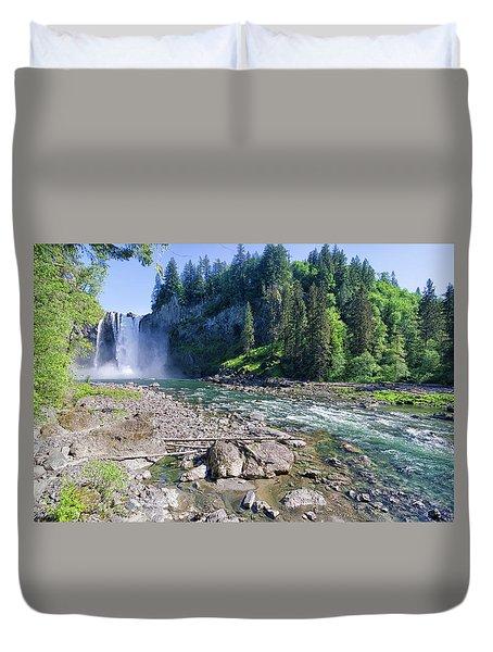 Snoqualmie Falls Duvet Cover