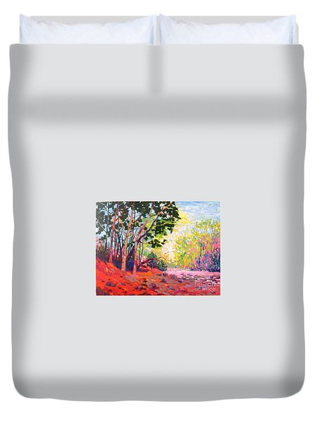 Snoqualmie Story Duvet Cover