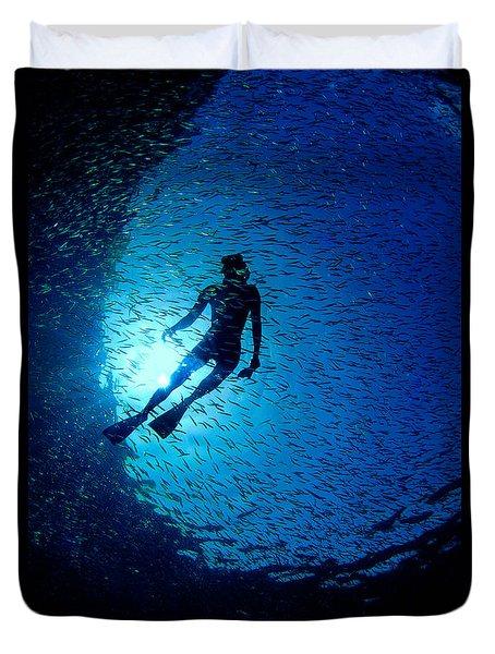Snorkeler Duvet Cover