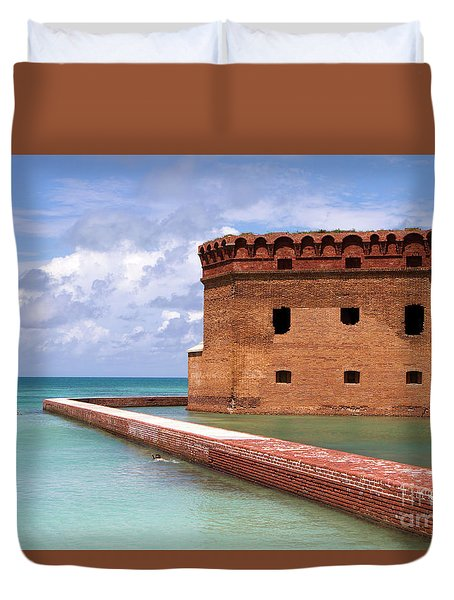 Snorkelers Fort Jefferson Duvet Cover