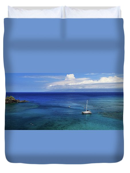 Duvet Cover featuring the photograph Snorkeling In Maui by James Eddy