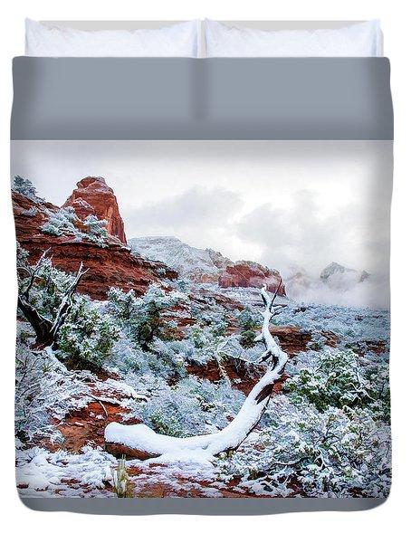 Snow 05-024 Duvet Cover by Scott McAllister