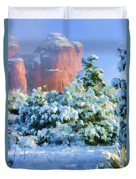 Snow 07-093 Duvet Cover by Scott McAllister