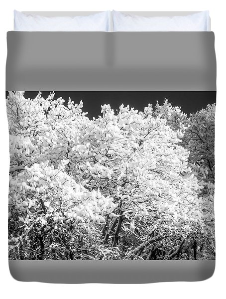 Snow And Frost On Trees In Winter Duvet Cover