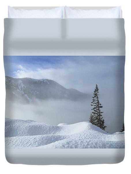 Snow And Silence Duvet Cover